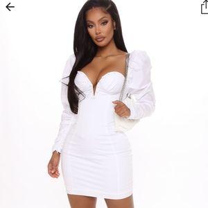 Fashion nova must have puff sleeve mini